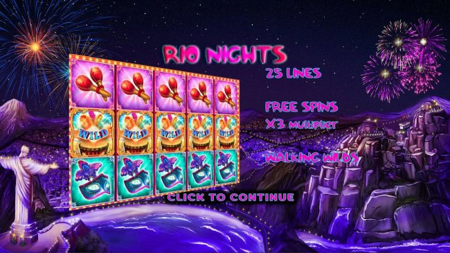 Game features include: 25 Lines, Free Spins with x3 Multiplier and Walking Wilds - Free Slots 247