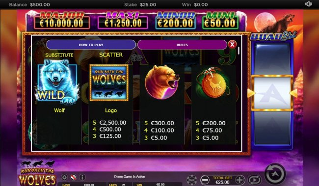 Run with the Wolves Quad Shot by Free Slots 247