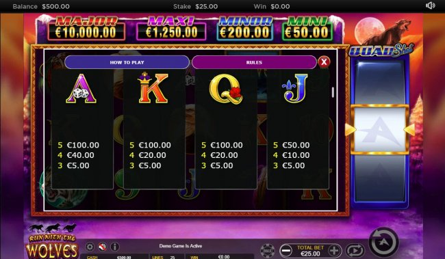 Free Slots 247 image of Run with the Wolves Quad Shot