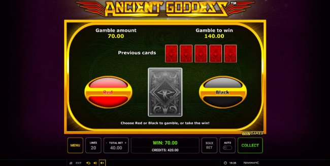 Black or Red Gamble Feature - Free Slots 247