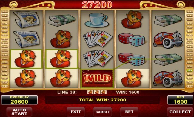 A 27200 coin jackpot triggered by multiple winning paylines. by Free Slots 247