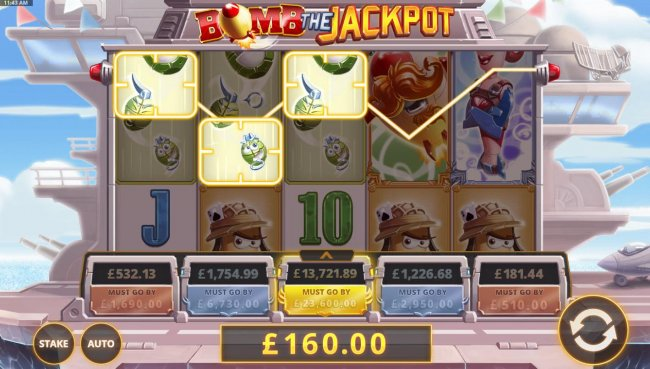 Free Slots 247 - Multiple winning paylines triggers a 160.00 big win!