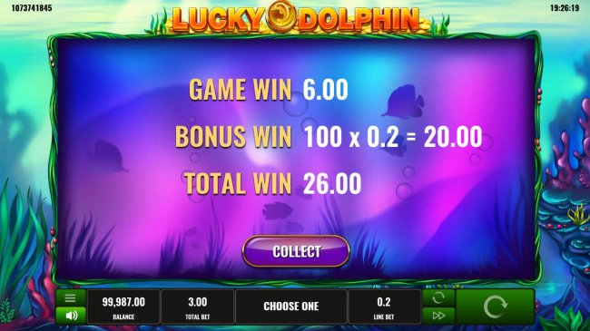 Total bonus game payout 26 coins by Free Slots 247