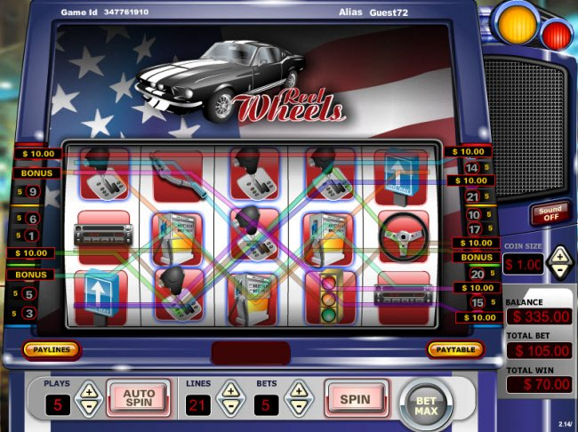 Free Slots 247 - Scatter win triggers the bonus feature
