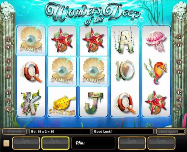Three pearl bonus symbols triggers the Bonus Pick Feature. - Free Slots 247