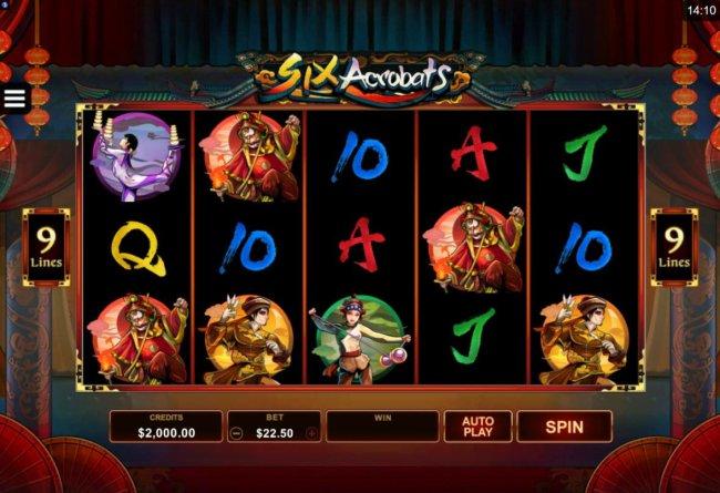 Six Acrobats by Free Slots 247