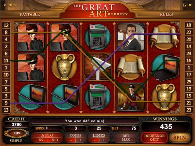Free Slots 247 image of The Great Art Robbery