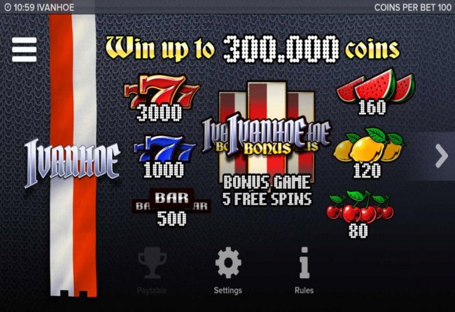 Free Slots 247 image of Ivanhoe