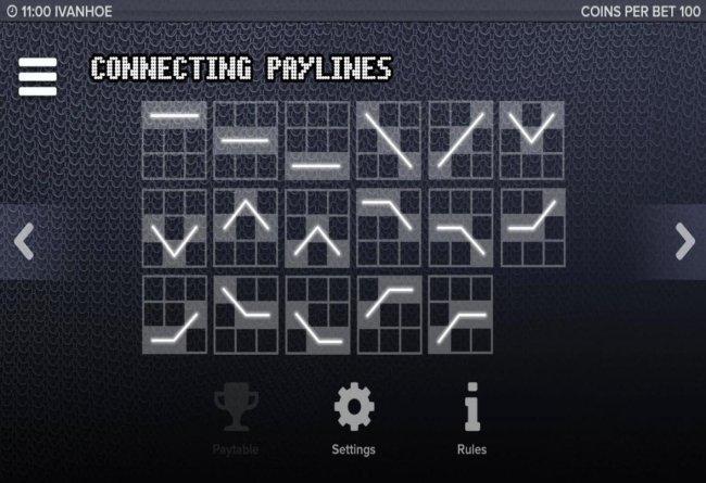 Free Slots 247 - Payline Diagrams 1-17.