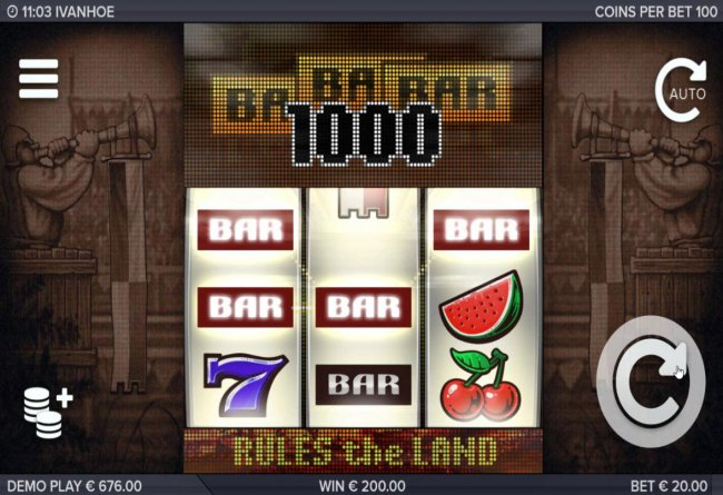 Free Slots 247 - A pair of winning paylines triggers a 1,000 coin payout.
