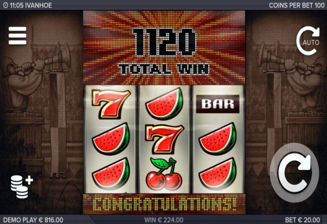 Total Free Spins payout is 1120 coins. - Free Slots 247
