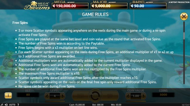 Free Slots 247 - Free Spins Rules