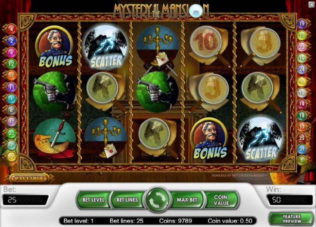 two scatter symbols triggers a 2x your line bet payout by Free Slots 247