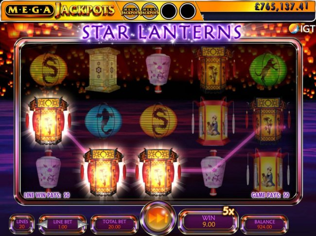 Free Slots 247 image of Star Lanterns Mega Jackpots