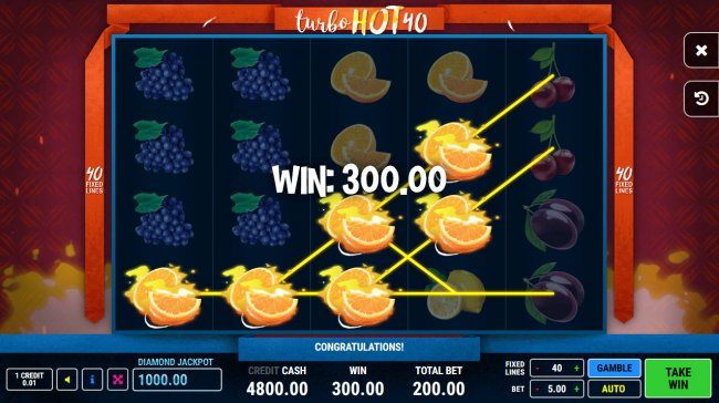 Turbo Hot 40 by Free Slots 247