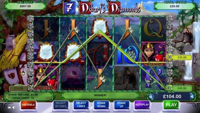 Free Slots 247 - Multiple winning paylines triggers a $104 jackpot