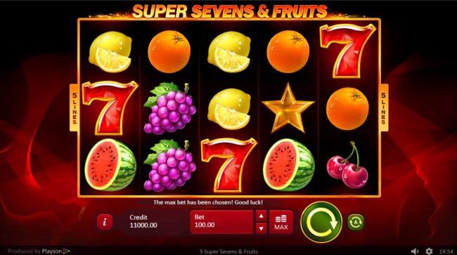 Super Sevens & Fruits screenshot