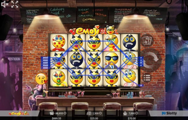 A 7,000 coin jackpot triggered by multiple winning paylines. by Free Slots 247