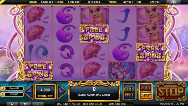 Scatter win triggers the free spins feature by Free Slots 247