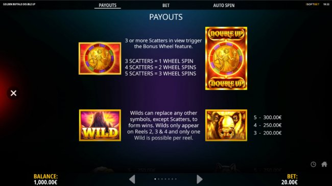 Golden Buffalo Double Up by Free Slots 247