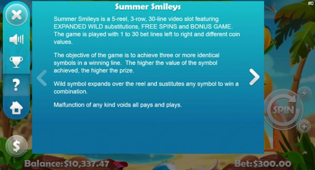 Summer Smileys by Free Slots 247