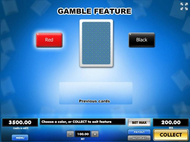 Free Slots 247 - Gamble Feature - To gamble any win press Gamble then select Red or Black.