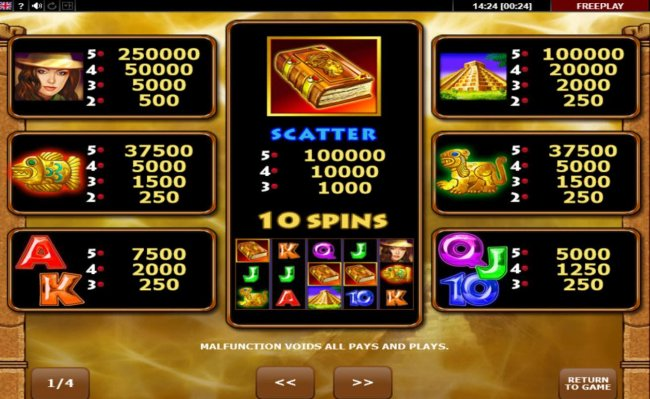 Free Slots 247 image of Book of Aztec