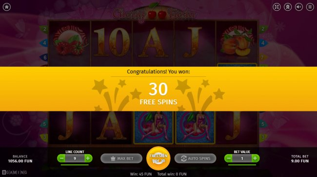 30 Free Spins Awarded - Free Slots 247