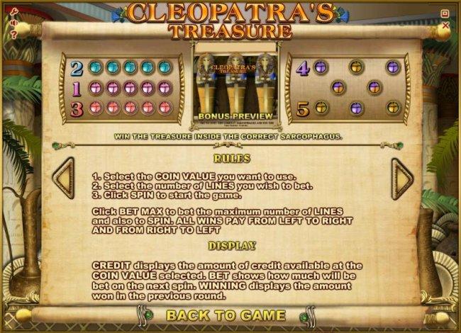 Free Slots 247 image of Cleopatra's Treasure