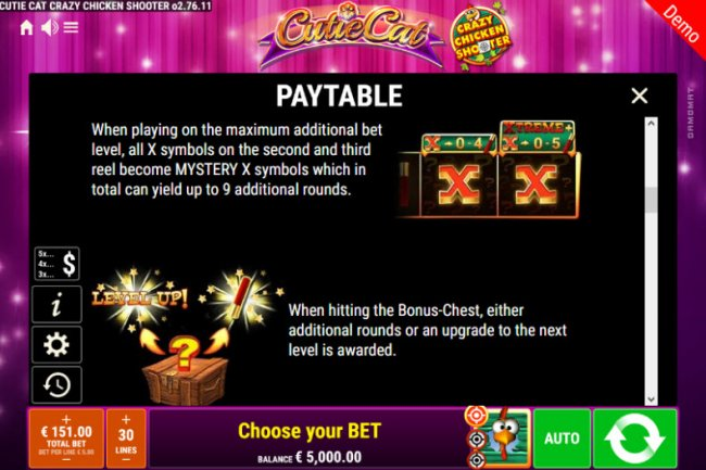 Cutie Cat Crazy Chicken Shooter by Free Slots 247