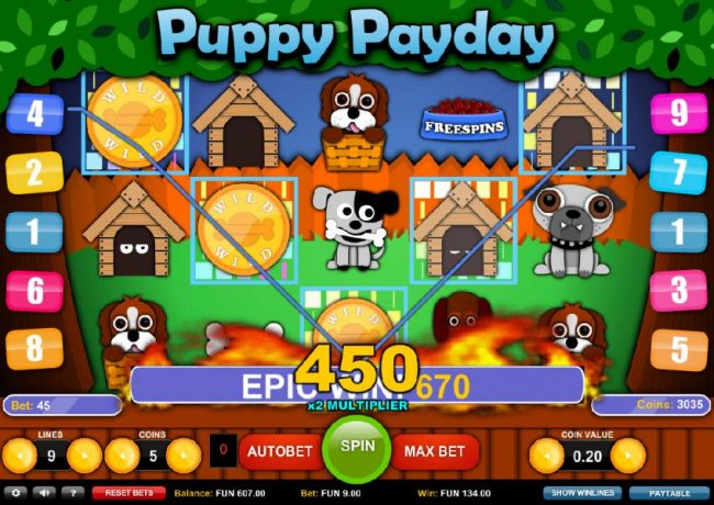 Epic Win: 670 coins paid out on multiple winning paylines - Free Slots 247