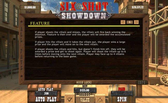Free Slots 247 image of Six Shot Showdown