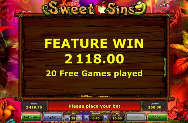 Free Slots 247 image of Sweet Sins