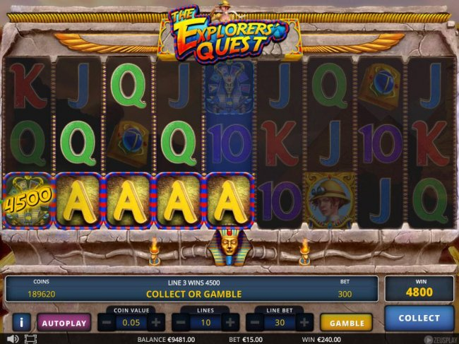 Casino Bonus Lister - A 4800 coin jackpot win triggered by a pair of winning paylines.