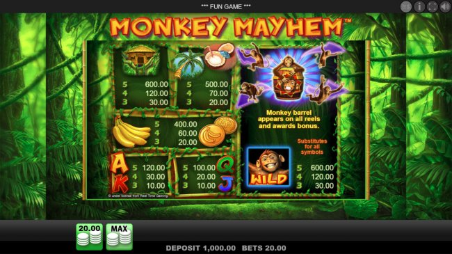 Free Slots 247 image of Monkey Mayhem