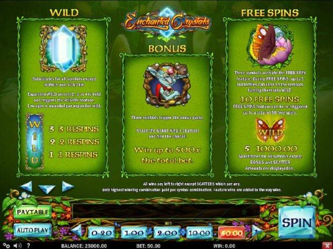 Free Slots 247 image of Enchanted Crystals