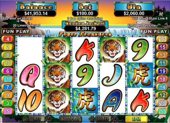 Tiger Treasures screenshot