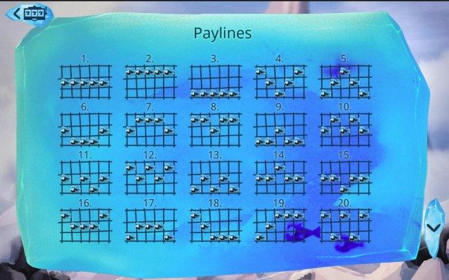 Payline Diagrams 1-20 - Free Slots 247
