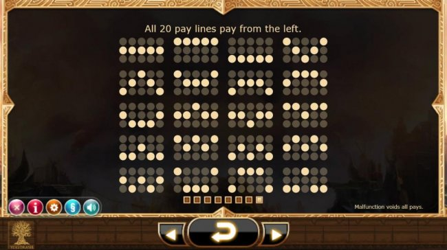 Payline Diagrams 1-20 All pay lines pay from the left. - Free Slots 247