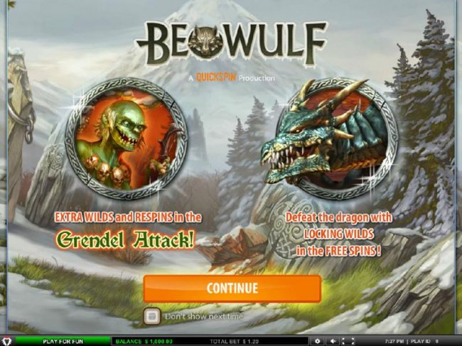 Free Slots 247 - This game features EXTRA WILDS and RESPINS in the Grendel Attack! Defeat the dragon with LOCKING WILDS in the FREE SPINS!