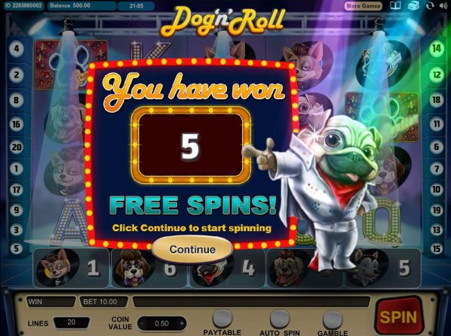 5 Free Games Awarded. by Free Slots 247