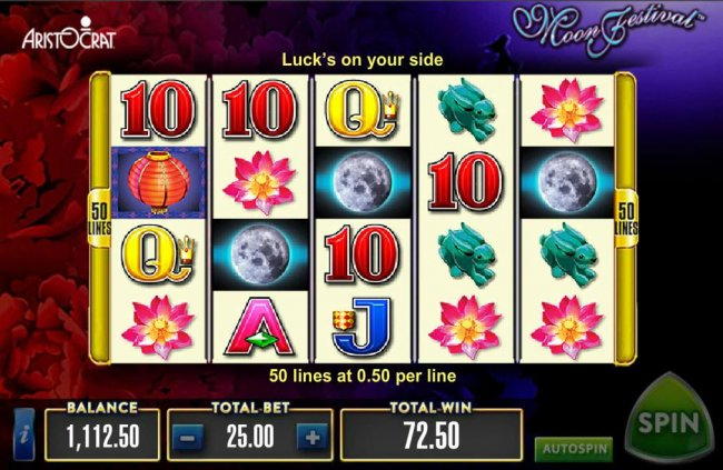 Moon wild symbols trigger multiple winning paylines - Free Slots 247