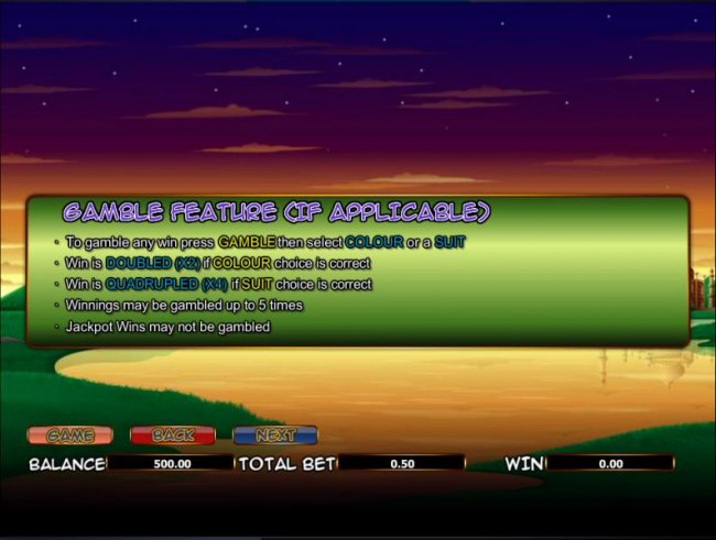 Free Slots 247 - gamble feature rules - if applicable