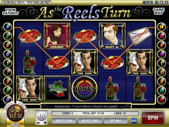 Free Slots 247 - four of a kind triggers a $12.50 payout