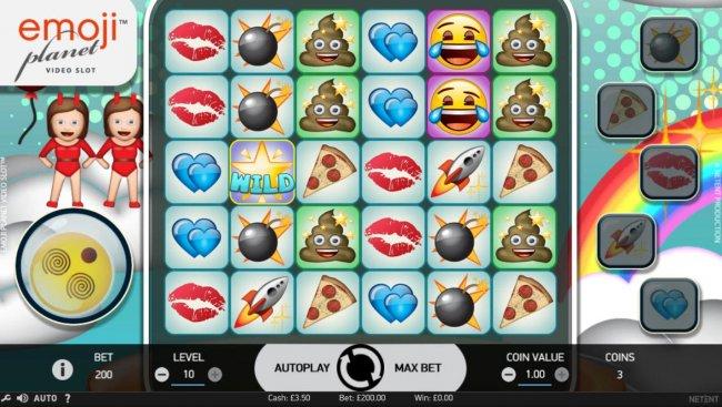 Main game board featuring five reels and 20 paylines with a $100,000 max payout. - Free Slots 247