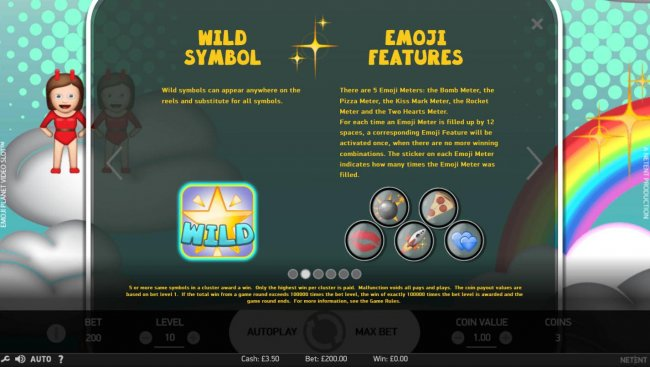 Free Slots 247 - Wild Symbol and Emoji Features Rules