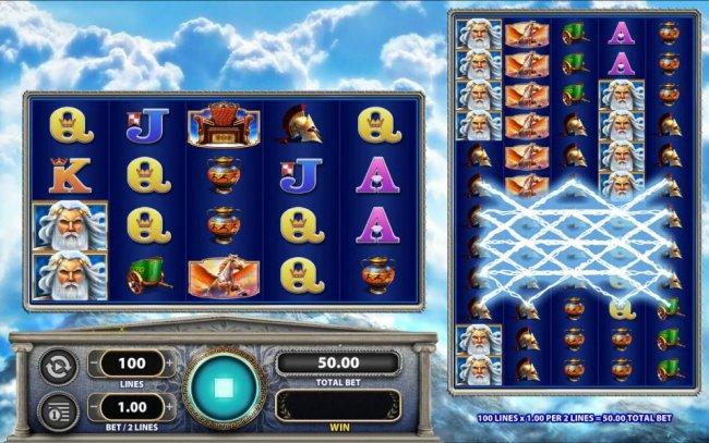 Multiple winning paylines triggered on the collosal wheel set - Free Slots 247