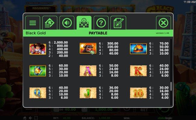 Black Gold Megaways screenshot