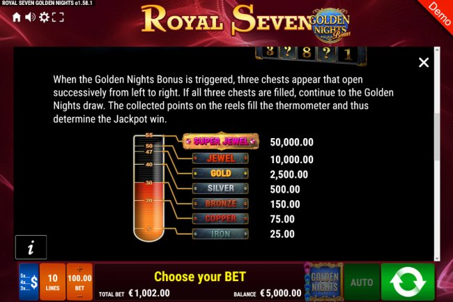 Royal Seven Golden Nights Bonus by Free Slots 247