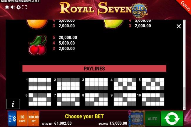 Images of Royal Seven Golden Nights Bonus